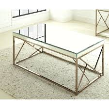 mirror top coffee table silver mirror top coffee table in copper chrome hayes mirror top metal