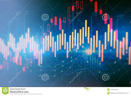 Abstract Forex Chart Wallpaper Stock Illustration