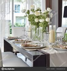 Elegante Tischset Im Vintage Stil Esszimmer Interieur