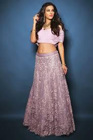 Off Shoulder Designer Suits Off Shoulder Designer Lavender Colored Lehenga Choli