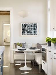 breakfast banquette furniture. transitional kitchen features an eatin boasting a freestanding l shaped banquette consisting of armless leather chairs doubling as window seat breakfast furniture q