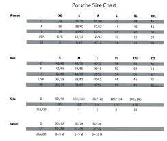 Suncoast Porsche Parts Accessories Size Chart