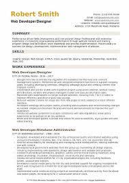 Web Designer Resume Beauteous Web Developer Designer Resume Samples QwikResume