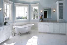 clawfoot tub bathroom designs. Fine Tub The Corner Of This Bathroom Is Well Lit By Natural Light Flooding Through  The Three Paned Throughout Clawfoot Tub Bathroom Designs