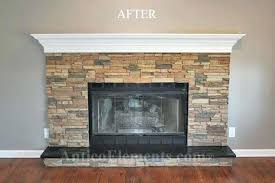 faux hearth faux stone fireplace