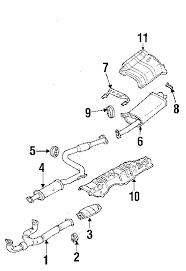 com acirc reg mitsubishi diamante exhaust components oem parts 2002 mitsubishi diamante ls v6 3 5 liter gas exhaust components
