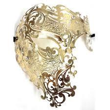 evil gold black silver half face skull party masks rhinestones phantom metal venetian masquerade mask