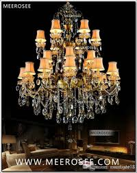 large 3 tiers 24 arms crystal chandelier light fixture antique brass luxurious crystal re lamp md8504 l24 d1150mm h1400mm birdcage chandelier michigan