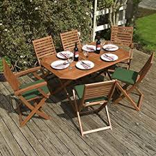 outdoor wood folding table and chairs set. wooden garden furniture set - 6 seater folding dining this 7 piece table \u0026 outdoor wood and chairs d