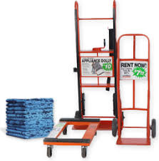 Moving Hacks rent or borrow a dolly and furniture pads to save
