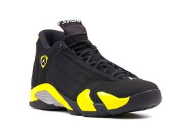 jordan shoes retro 14. air jordan 14 retro thunder black vibrant yellow white for sale shoes