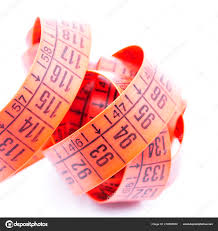 Red Tape Light Blur Red Tape Measure White Light Concept Diet Lenght Tool