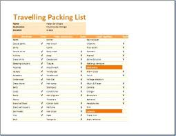 Shipping Packing List Template Word Checklist Travel Editable And ...