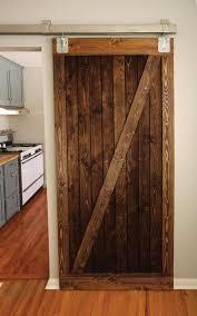 rustic wood barn door z brace style by graincustomwoodworks 300 00