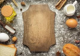 Bakery Ingredients On Wooden Background Stock Photo By Seregam