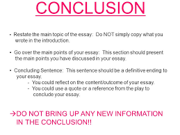 exam essay structure ppt video online conclusion do not bring up any new information in the conclusion