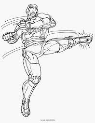 Kleurplaat Iron Man Model Marvel Helden Ausmalbilder Avengers