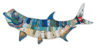 20 metal fish wall decor home decor framed in the village mcnettimages com