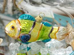Fisch Bunt Christbaumschmuck Weihnachten Glas