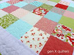 Patchwork Baby Quilt | 3rdRevolution & You can learn more about this project by visiting my blog at  http://www.genxquilters.com/2013/02/simple-patchwork-baby-quilt-finish.html Adamdwight.com
