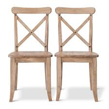 Harvester X-Back Dining Chair Hardwood Set of 2 - Beekman 1802 FarmHouse