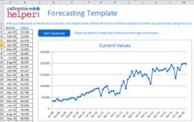 How To Forecast In Excel Monthly Forecasting Excel Spreadsheet Template