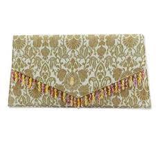Floral Brocade Floral Brocade Beaded Clutch Handbag In Sage Green Delhi Woman