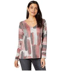 Nally And Millie Size Chart Nally Millie V Neck Long Sleeve Top Zappos Com
