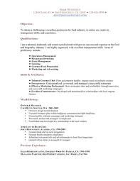 Restaurant Resume Templates Restaurant Resume Examples Berathen .