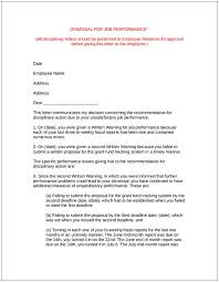 Employee Performance Letter Sample Sample Termination Letter For Poor Performance Cycling Studio