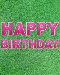 happy birthday pink and green products