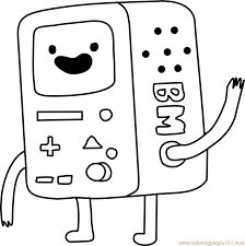 Small Picture BMO Coloring Page Free Adventure Time Coloring Pages