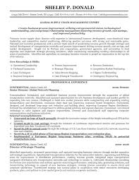 Resume Samples For Supply Chain Management Resume Work Template