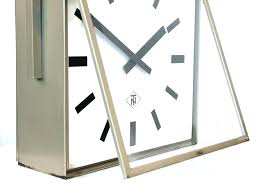 2 sided clock station large train outdoor double thermometer