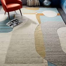 christopher wynter abstract circle rug light sage