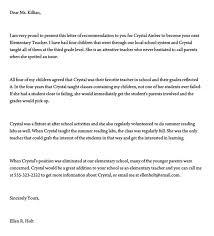 Letter Of Recommendation Teacher Recommendation Letter For A Teacher 32 Sample Letters