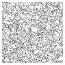 Hand Drawn Doodles To Color On The Subject Of Thanksgiving