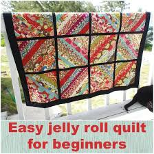 My serger jelly roll quilt is finished - So Sew Easy &  Adamdwight.com