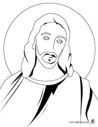 coloring cartoon easter face holy face of christ coloring page