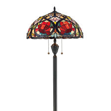 tiffany larissa floor lamp in vintage bronze