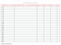 Blank Wedding Planning Checklist Wedding Planning Guest List Template Guest List Spreadsheet Elegant