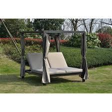 DIRECT WICKER Heminger Outdoor Steel Metal Adjustable Day Bed with ...