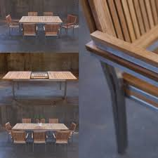 Stainless Steel Outdoor Dining Table Loveteak Warehouse Sustainable Teak Patio Furniture