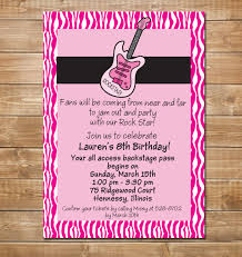 part invites guitar invitation rock n roll party invites hard rock party