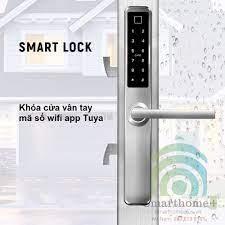 Khóa Cửa Lùa Kéo Ngang Thông Minh Wifi Tuya SHP-DLS9B