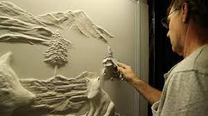 drywall art sculptures by bernie mitchell