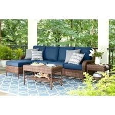 patio wicker sectional patio furniture outdoor sectionals lounge the home depot bay brown 5 piece