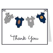 Amazon Com Thank You Cards Baby Shower Mvp Onesie Sports Baby