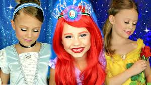 disney princess makeup pilation cinderella belle and ariel makeup