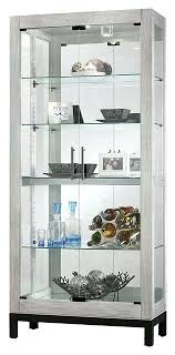 silver curio cabinet silver reclaimed finish two glass door curio cabinet